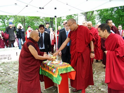 Blessing the Maitreya Center Site