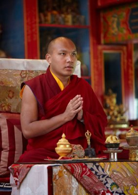 His Holiness Karmapa In Shrine Room
